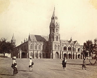 Government College University (Lahore) - Government College, Lahore in the 1880s