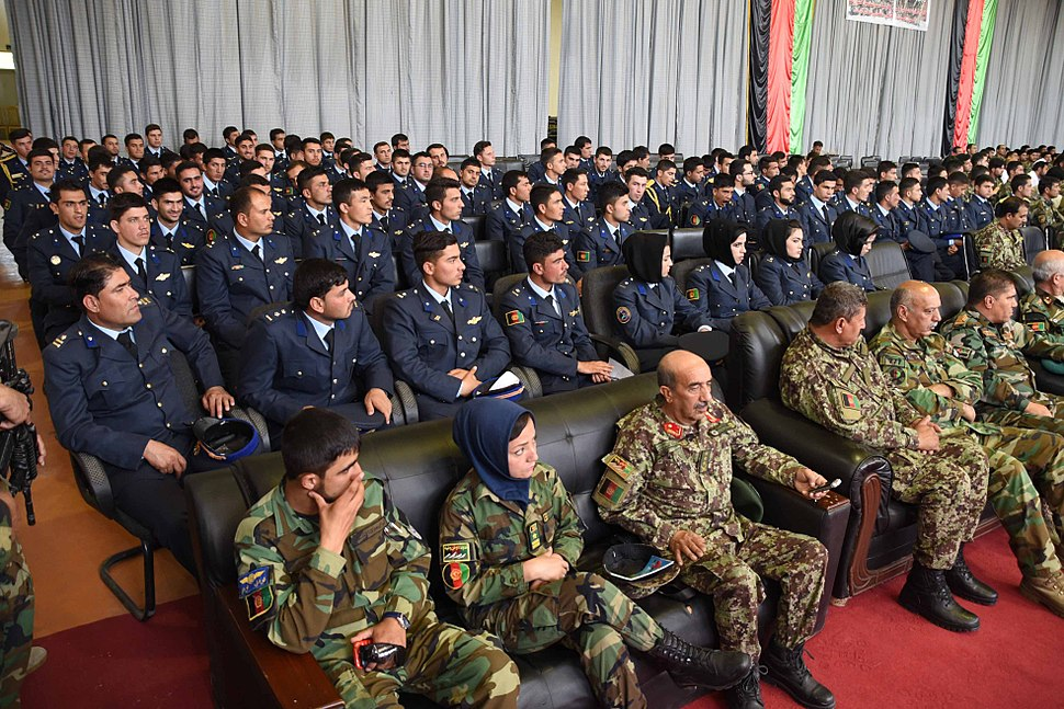 Graduation day of Afghan Air Force students in May 2017