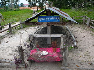 Oddar Meanchey Province - Grave of Khmer Rouge dictator Pol Pot who died in Anlong Veng in 1998.