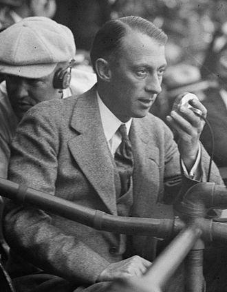 Graham McNamee - McNamee at the 1924 World Series