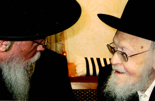 "Grand Rabbi Mayer Alter Horowitz shlit""a speaking with Rav Yosef Shalom Elyashav zt""l"