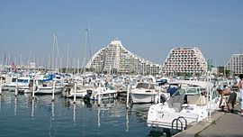 The marina of La Grande-Motte and the grande pyramide