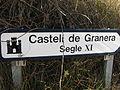 Granera - Senyal del castell.JPG