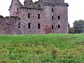 Grassy area at the back of Caerlaverock Castle - geograph.org.uk - 1419763.jpg