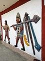 Gravats simulant a la cultura Moche de camí cap al complexe arqueològic del Brujo03.jpg