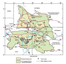 Areas Of Oil Shale Of The Green River Formation Colorado Utah And Wyoming Usgs
