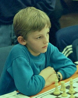 Alexander Grischuk - Alexander Grischuk, 1992 at Duisburg,  2nd at the World Chess Championship under 10