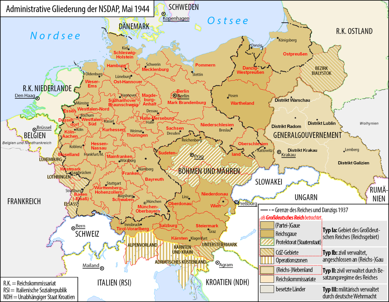 Großdeutsches Reich 1944