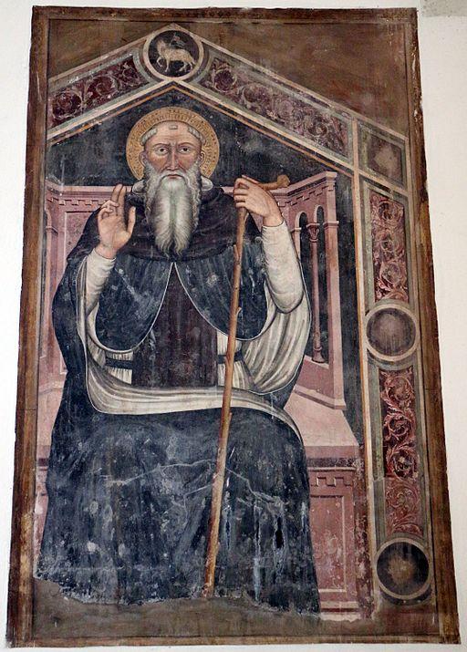 Grosseto, san francesco, interno, s. antonio abate di scuola senese del xiv secolo