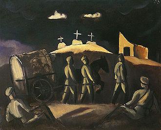 Latvian Riflemen - White Crosses (1916) by Jāzeps Grosvalds