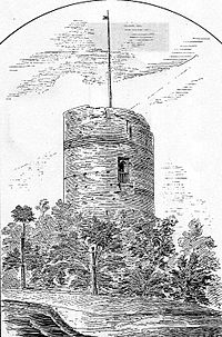 Klimek – wieża zamkowa w Grudziądzu w końcu XIX w.
