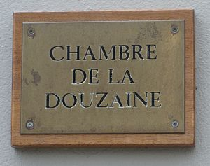 "Parishes of Guernsey - ""Chambre de la Douzaine"" - sign of the Douzaine Room of the parish of Torteval"