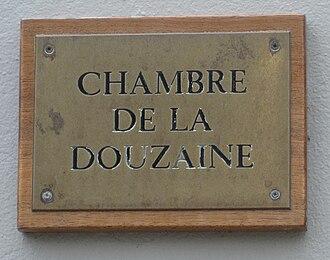 """Parishes of Guernsey - """"Chambre de la Douzaine"""" - sign of the Douzaine Room of the parish of Torteval"""