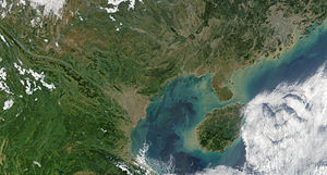 Gulf of Tonkin - True color satellite image of the Gulf of Tonkin