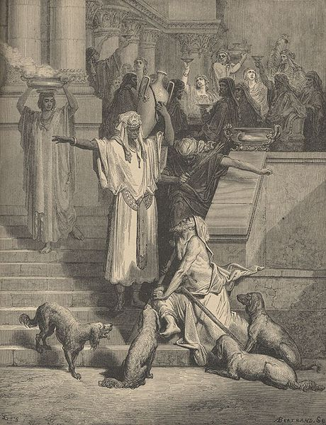 File:Gustave Dore Lazarus and the Rich Man.jpg