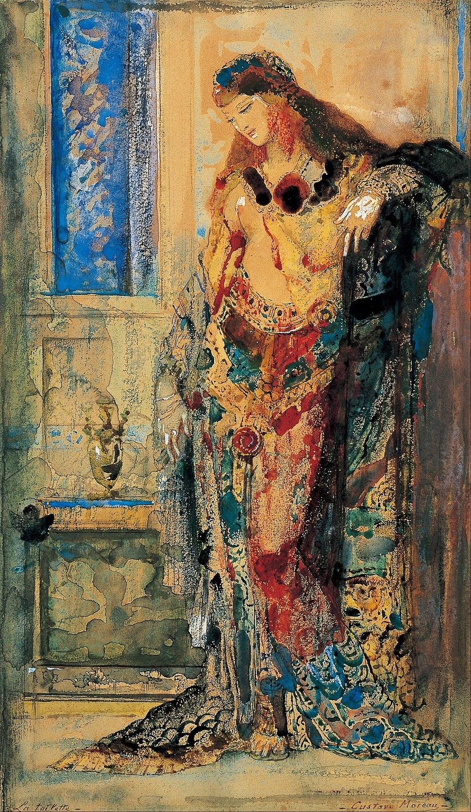 Gustave Moreau - The Toilette - Google Art Project