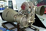 H-1 rocket engine, from the Saturn IB rocket - Evergreen Aviation & Space Museum - McMinnville, Oregon - DSC00810.jpg