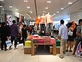 HK Central Queen's Road LHT Tower GAP clothing shop interior visitors Oct-2012.JPG
