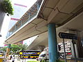 HK Sheung Wan Connaught Road West Sept-2015 DSC Chung Kong Road flyover bridge view Shun Tak Centre.JPG