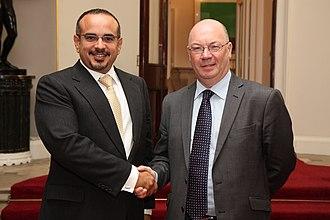 Alistair Burt - Burt with Salman, Crown Prince of Bahrain, 11 October 2012