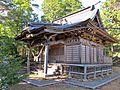 Haiden of Sakamine-jinja shrine in Haramachi ward 2.JPG