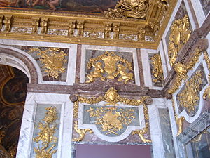 A corner of the Hall of Mirrors in the Palace ...