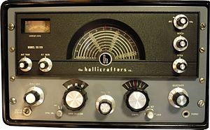 Communications receiver - Image: Hallicrafters model SX 115