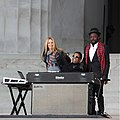 Hancock, Crow, and will.i.am at We Are One.jpg