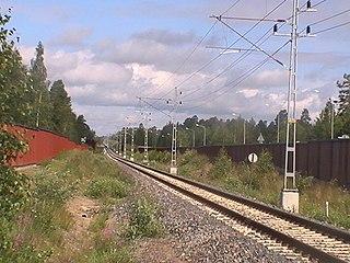 railway line in Sweden