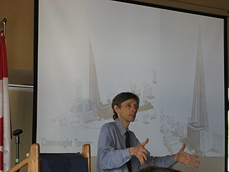 """Harry Stinson - Stinson's """"Connaught Towers"""" presentation at Hamilton, Ontario Chamber of Commerce, 2008"""
