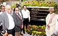 Harsh Vardhan unveiling the plaque to dedicate the Medical Biotechnology Complex of CSIR-CCMB to the Nation, in Hyderabad. The Minister of State for Labour and Employment (Independent Charge), Shri Bandaru Dattatreya.jpg