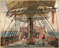 Esquisse de décor de l'acte II de l'opéra-comique Haydée ou Le secret de Daniel-François-Esprit Auber (Philippe Chaperon, 1891). (définition réelle 3006×2427)