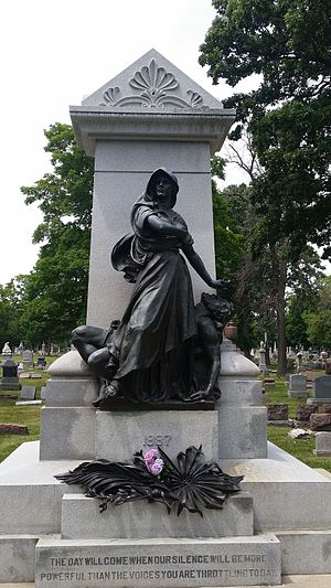 Forest Park, Illinois - Haymarket Martyrs' Monument, Forest Home Cemetery