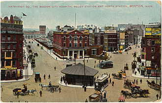 Boston - Haymarket Square, 1909