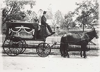 Hearse - From Queensland, Australia c. 1900, horse-drawn carriage built by A. E. E Roberts Carriage Works