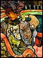 Henri de Toulouse-Lautrec, Louis Comfort Tiffany, Au Nouveau Cirque, Papa Chrysanthème, c.1894, stained glass, 120 x 85 cm, Musée d'Orsay, Paris.jpg