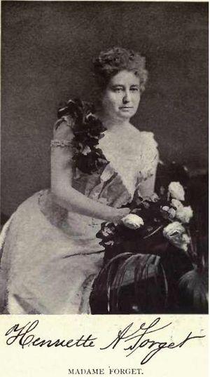 Amédée E. Forget - Madame Henriette Forget by William Notman