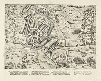 Siege of Steenwijk (1592) - A view of the siege from print by Bartholomeus Dolendo