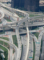 High Five Interchange in Dallas.