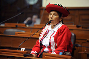 Quechua people - Hilaria Supa, human rights activist and Peruvian politician