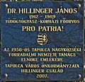 Hillinger János plaque Tapolca Batsányi János tér.jpg