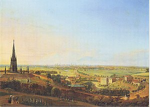 Viktoriapark - View from the Kreuzberg, 1829