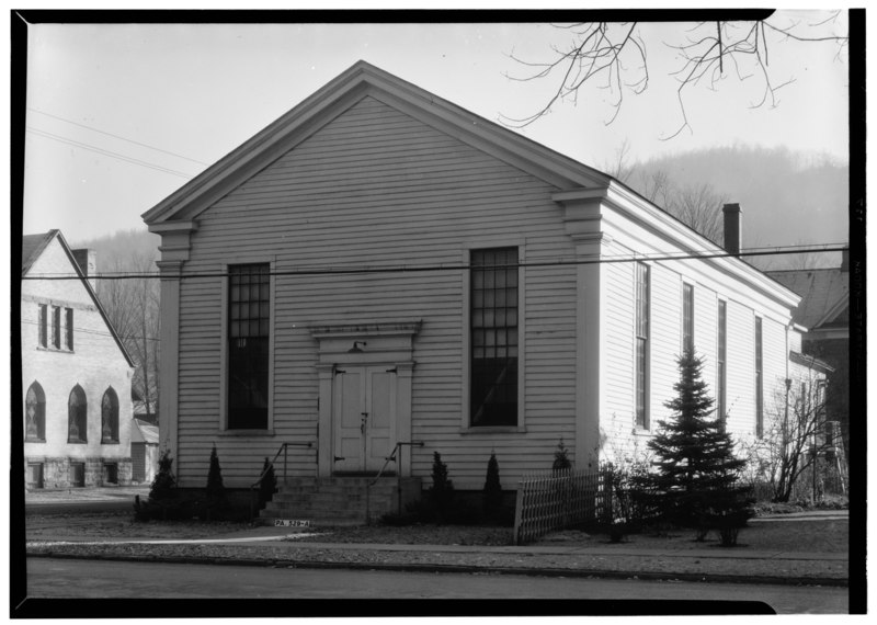 Sample Front Elevation Church : File historic american buildings survey william j