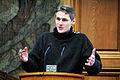 Hoegni Hoydal, Faroarna, talar vid Nordiska radets session i Kopenhamn 2006.jpg