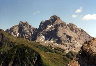 Coglians - Coglians (right) as seen from the NW
