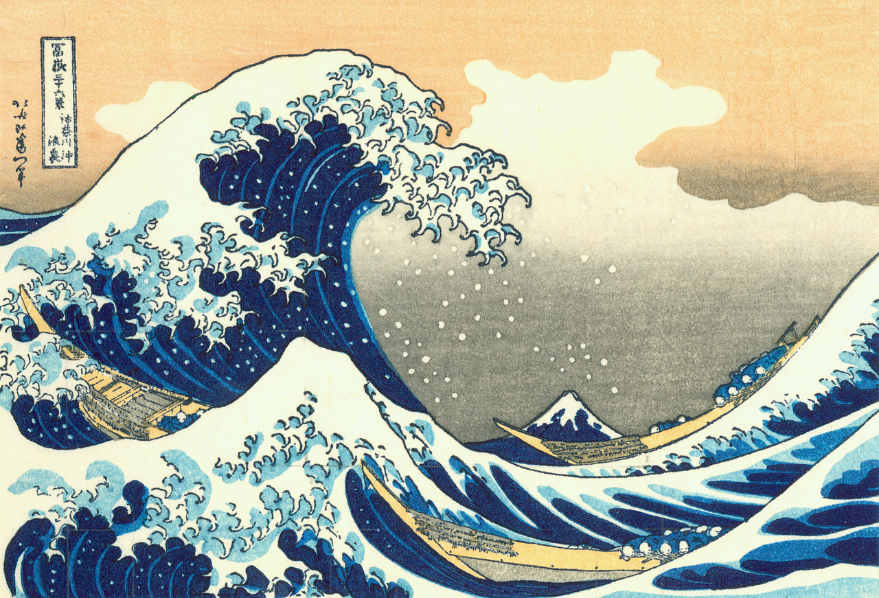 wave Hokusai great