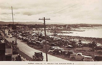 Burleigh Heads, Queensland - A 1940s postcard of Burleigh Heads
