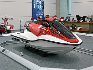 Personal water craft - A Honda Aquatrax in a museum in Japan