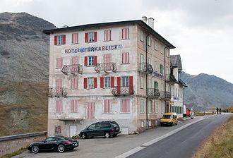 Andermatt - Hotel Furkablick on the Furka Pass, east side