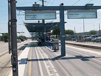 Stadium Park/Astrodome (METRORail station) - Image: Houston Reliant Park Station